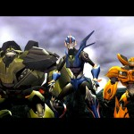 Transformers Prime_Wii U screenshot_Arcee Bulkhead and Bumblebee