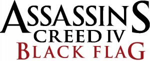 Assassins Creed Black Flag IV_Logo_BW_Red