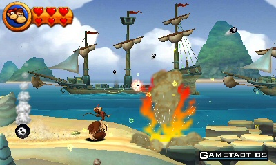 Donkey Kong Country Returns 3D Review - 3DS