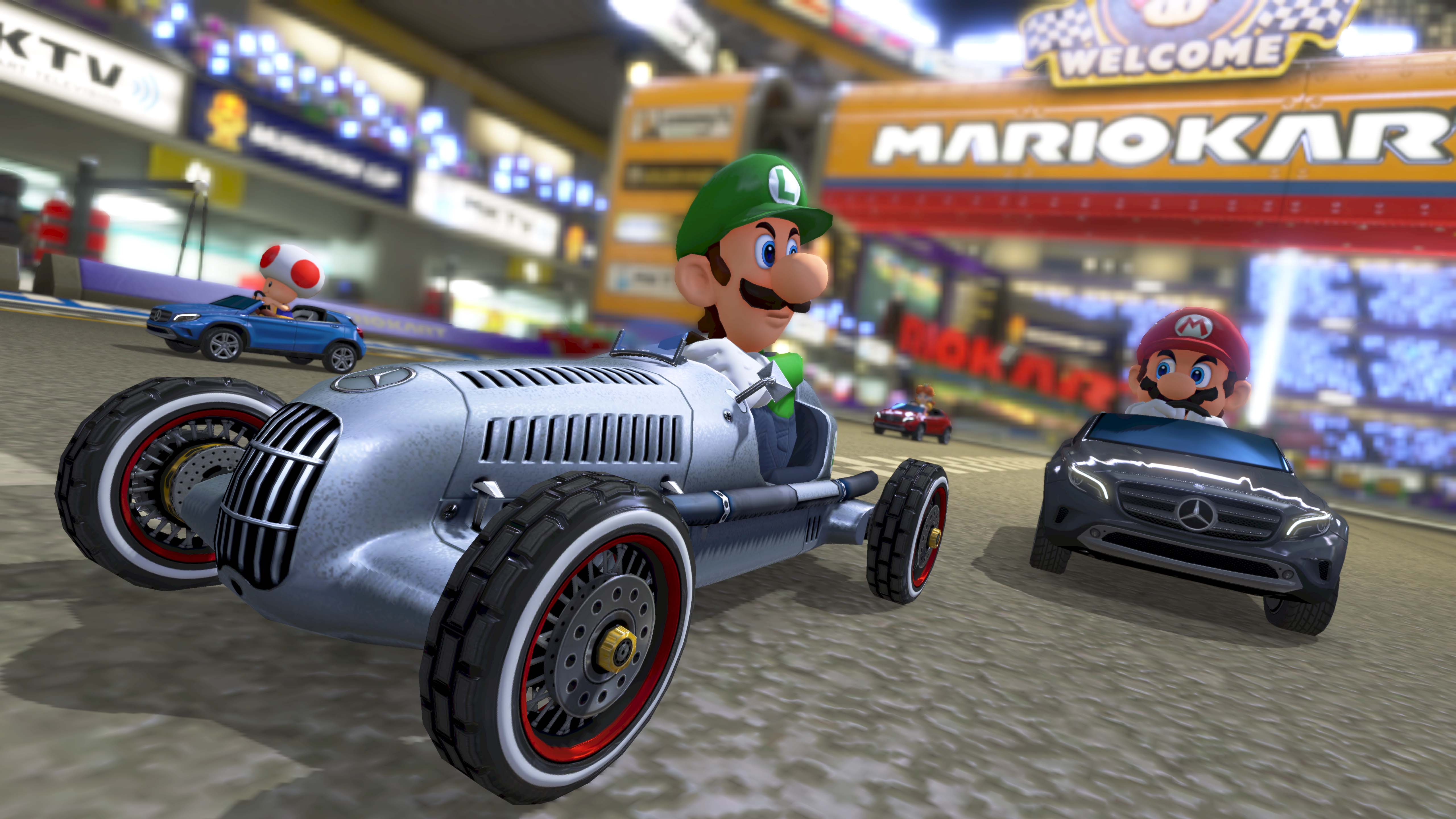 Nintendo adds three mercedes benz cars and updates to mario kart 8