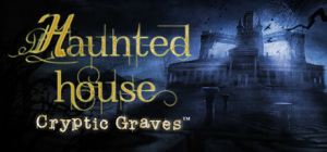 Haunted House Cryptic Graves Logo
